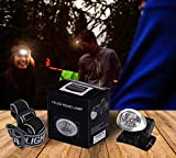 LED Headlamp - Waterproof Flash Light - Adjustable Headband - Best For Camping, Hiking, Hunting,Fishing, Running- Battery Powered - by Utopia Home