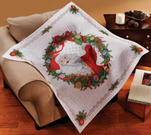 Bucilla Santa Surprise Lap Quilt Stmpd X Stitch Kit