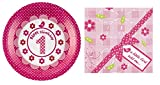 Neviti Party Pack: Little Bird 1st Birthday Plates (8 Pack) and Little Bird Paper Napkins (20 Pack)