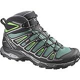 Salomon Men's X Ultra Mid 2 GTX Hiking Shoes & Collapsing Waterbottle Bundle