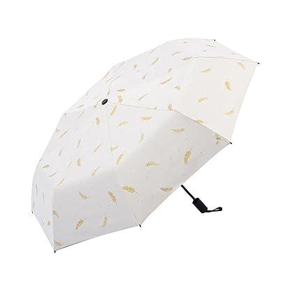Zxzxzl Sombrilla para Hombres Y Mujeres Sombrilla Paraguas UV para Protección Solar para Uso Doble Sombrilla