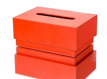 Qclr-T Creative solida Living Toalla de Papel Caja, Simple casa Decoracion Caja,