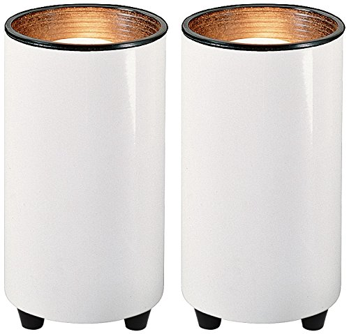 White 6 1/2 High Mini Accent Can Spot Lights Set of 2 - Indoor Accent