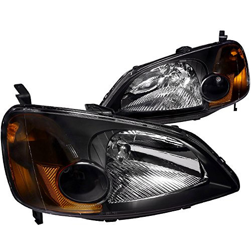 03 honda civic si black headlight - 9