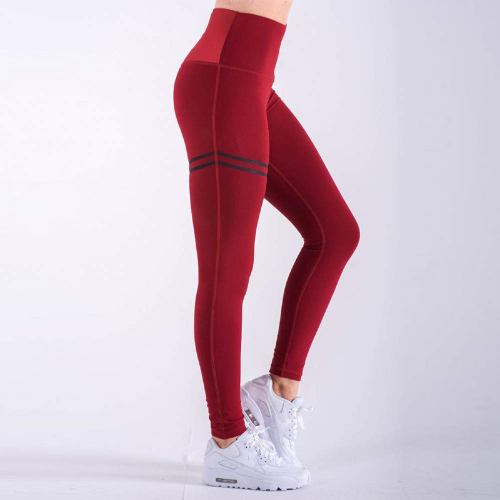 rouge X-grand NSYJKPantalon de yogaPantalon de Yoga Taille Haute pour Femmes Sports de Plein air Fitness FonctionneHommest Jambières Pantalon de neuvième Femme Gym Pantalon de Gymnastique