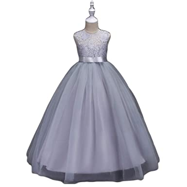 Belleangel Girls Lace Tulle Party Dress Sleeveless Ball Gown For 2