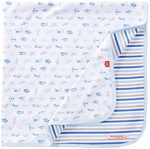 Magnificent Baby Baby Boys' Reversible Blanket, Airplane, One Size
