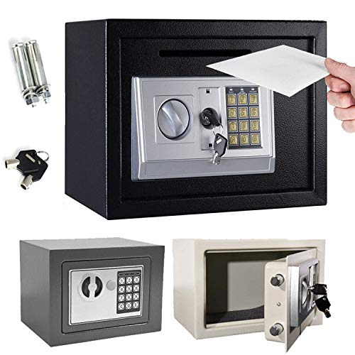8.5L High Security Steel Lock Safes, Money Box, Safety Boxes Jewelry Cash Box for Home,Office,Hotel, Digital Safe Box…
