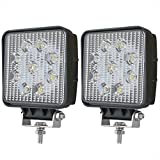 """Liteway 4"""" 2x36W Square Flood LED Light Bar CREE LED Pods LED Work Light Waterproof Jeep Off Road Driving Fog Lights for Truck Car ATV SUV Jeep Boat 4WD ATV, 1 Year Warranty"""