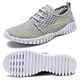 FCKEE Quick Drying Mesh Water Aqua Shoes for Men and Women,MBD,Gray-38