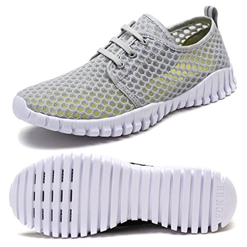 - FCKEE Quick Drying Mesh Water Aqua Shoes for Men and Women,MBD,Gray-37