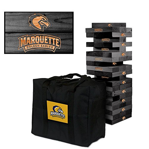 NCAA Marquette University Golden Eagles 921219Onyx Stained Giant Wooden Tumble Tower Game, Multicolor, One Size by Victory Tailgate