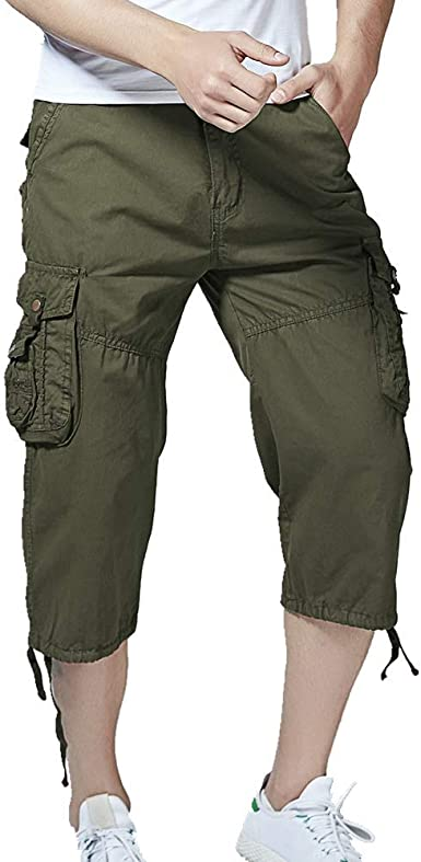 Vendredinoir Mono Pantalones Largos Siete Pantalones Tipo Cintura Cintura Pantalones Cortos Duraderos Algodon Casual Para Hombres Bolsillos Multiples Al Aire Libre Amazon Es Ropa Y Accesorios