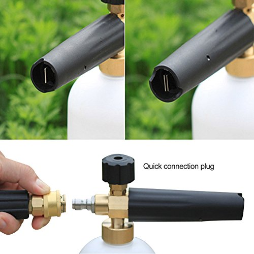 Alian Cannon Shaped Car Wash gun High Pressure Foam Pot All Copper High Concentration Foam Generator Watering Can Water Gun Tool Pump Cleaning Accessory