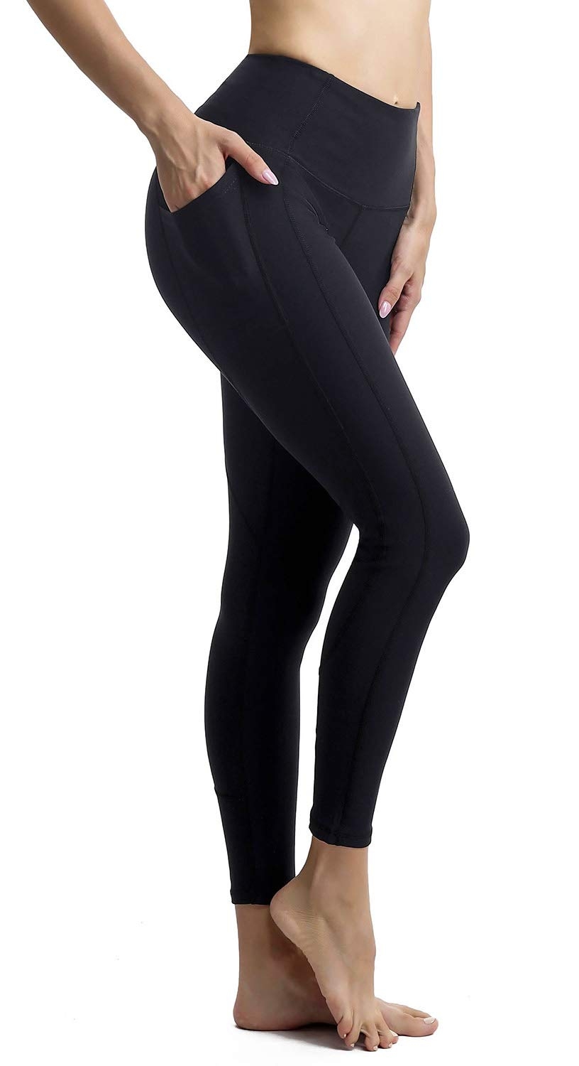 Persit Womens Premium Yoga Pants with Pockets, Non See