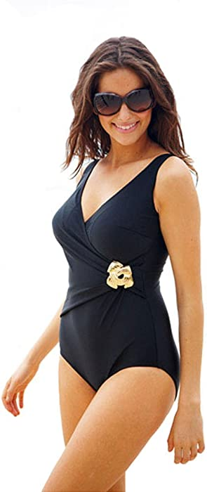 023161b76f7 RESORT Magic Body Shaping Swimsuit Swimming Costume. RRP: £32. Size 10:  Amazon.co.uk: Clothing