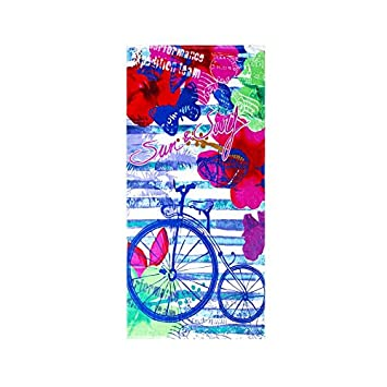 Regalitostv Day of The Dead* Toalla Playa Grande 95 X 175 CM Tacto Terciopelo 100% ALGODÓN (360g) (BICICLO 214): Amazon.es: Hogar