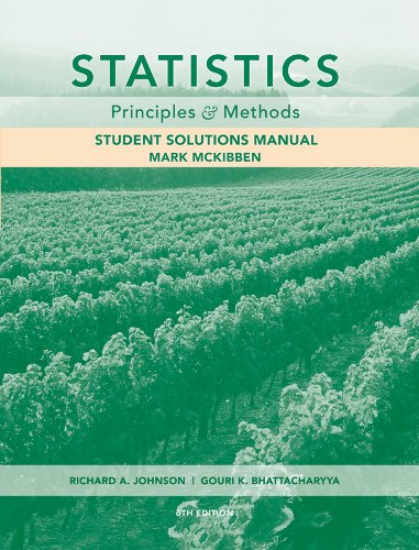 Statistics, Student Solutions Manual: Principles and Methods