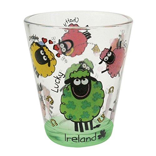 Dublin Gift Wacky Woolies Irish Sheep Shot Glass ()