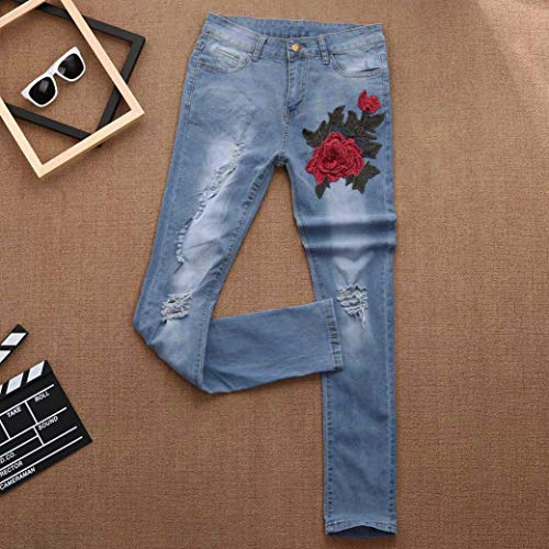 TOPUNDER Skinny Ripped Hole Jeans for Women Pants High Waist Slim Pencil Trousers by TOPUNDER (Image #3)