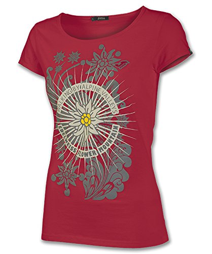 Joma - Camiseta graphic outdoor rojo m/c para mujer