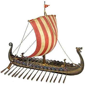 Amazon.com: Drekar Viking Ship Model Dragons Head Figurine