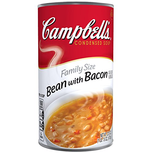 Campbell's Condensed Soup, Bean with Bacon, Family Size, 23.8 (White Bean Soup Recipe)