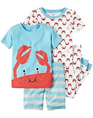 Carter's Baby Boys' 4-Piece Crab Pajama Set