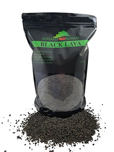 Black Lava For Bonsai - Sifted and Ready To Use - Can Also Be Used As An Additive For Bonsai Soil In Easy Zip Bag - (2.5 Dry Quart) (Sieved 1/8
