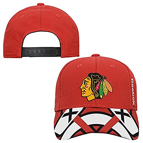 Chicago Blackhawks Youth 8-20 Fan Structured NHL Reebok Official Hat Cap by Reebok