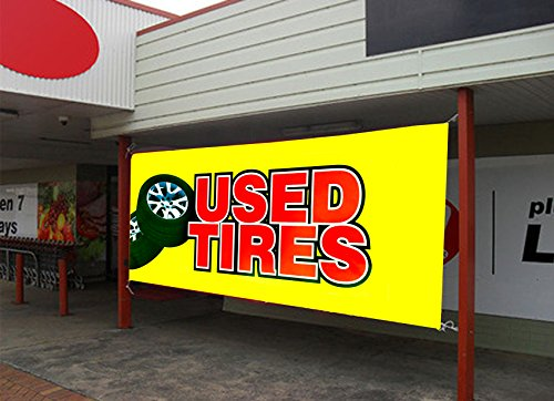"UGOS Excellent Quality - ""Used Tires"" Banner Sign - Ready to"