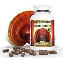 Organic Reishi Mushroom Extract by Real Mushrooms - 60 Capsules - Ganoderma Lucidum / Ling Zhi - Immune Booster