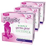 Playtex Simply Gentle Glide Unscented Tampons with Ultra Absorbency - 36 Count (Pack of 3)