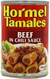 Hormel Beef Tamales, In Chili Sauce, 15-Ounce Units (Pack of 12)
