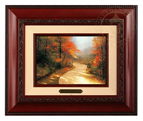Thomas Kinkade Brushwork Autumn Lane (Brandy Frame) (Kinkade Autumn Thomas)