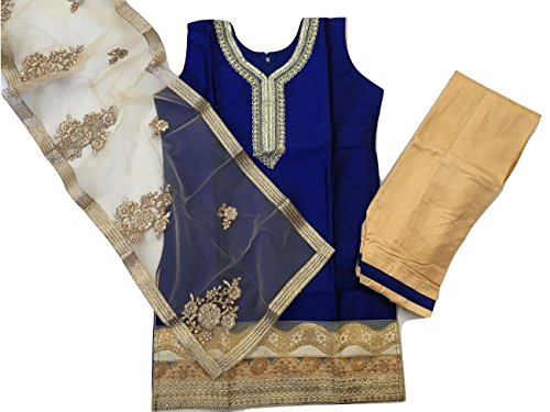 IBC Party Wear Indian Kids Dress Girls Punjabi Salwar Suit (Indian Size 36 (11-13 Years)) - Kameez Dress
