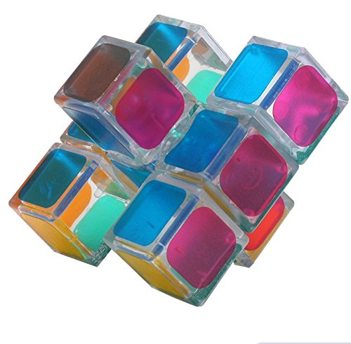 Funs Transparent 1x3x3 Smooth Turning Magic Speed Floppy Cube Twisty Puzzle (Fun Cheap)