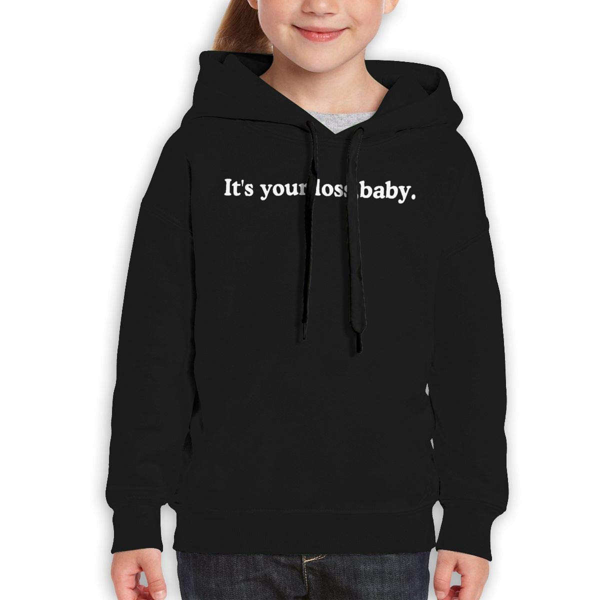 Boys Girls Its Your Loss Baby Teen Youth Sweater Black