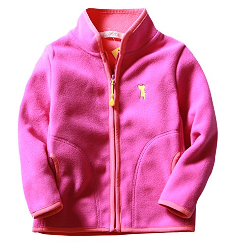 Girls Pink Embroidered Coat - 3