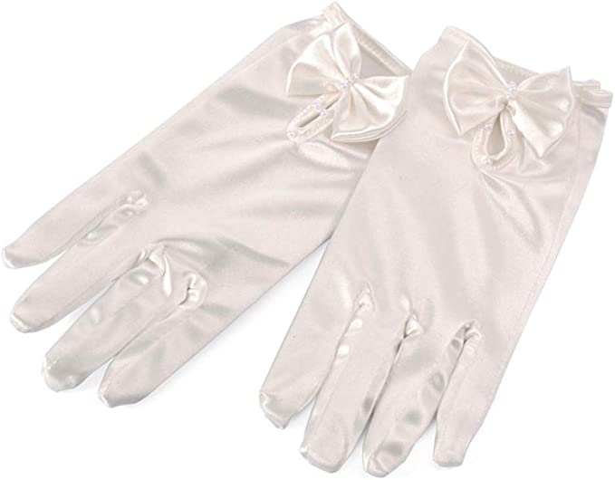 kids Special Occasion Gloves Special Occasion Gloves Clothing, Shoes & Jewelry Anpay Gorgeous Satin  Fancy Gloves For Special Occasion Wedding Party Girls Kids Finger White  Pearl Bow Gloves