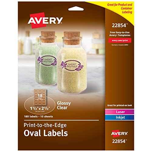 - Avery Oval Labels for Laser & Inkjet Printers, 1.5