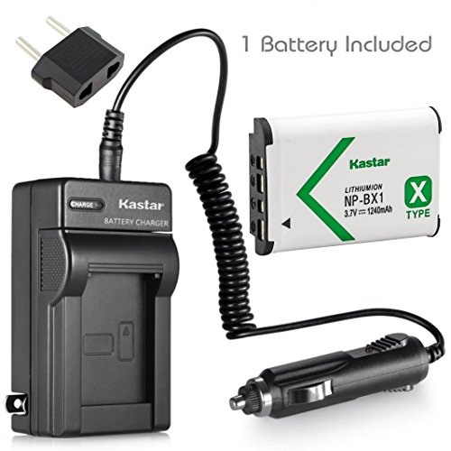 Kastar Battery (1-Pack) and Charger for Sony NP-BX1, M8 and Cyber-shot DSC-HX50V, HX300, RX1, RX1R, RX100, RX100M, RX100M3, WX300, HDR-AS10, AS15, AS30V, AS100V, AS100VR, CX240, MV1, PJ275 Camera (Sony As30v Accessories)