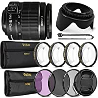 Canon EF-S 18-55mm f/3.5-5.6 III + All You Need Accessory Bundle For Canon T5 T6 T5i T6i 70D 80D
