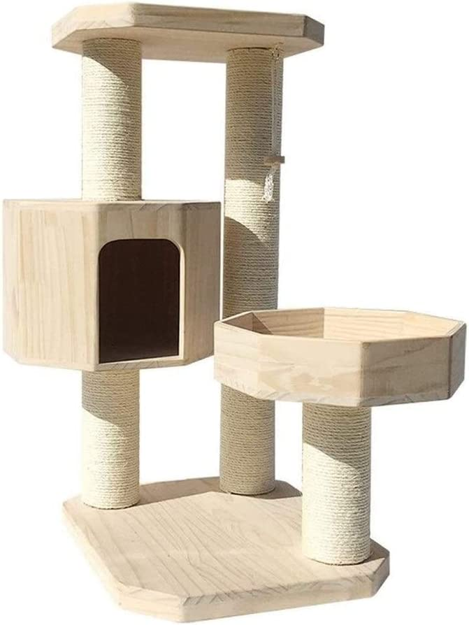 Llnn Cat Tree Modern Cat Tower For Indoor Cats Cat Scratcher Activity Centres Cat House Wooden Multi Level Cat Tree Tower Condo Furniture Scratching Post Climbing Sports Outdoors