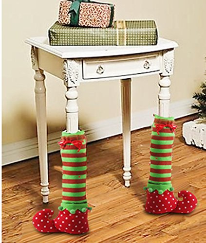 generic 1 pair christmas table leg covers elf elves feet shoes import it all. Black Bedroom Furniture Sets. Home Design Ideas