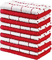 Utopia Towels - Kitchen Towels, 12-Pack - 15 x 25 Inches, Dobby Weave Kitchen Towels - 100% Ring Spun Cotton S