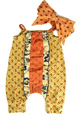 Mustard Pie Adorable Amber Fields Stella Romper & Headband (24 Months) -