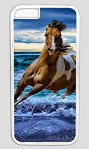 Handsome Horse Running in The Sea DIY Hard Shell Transparent Designed For iphone 6 plus Case