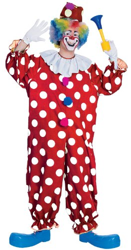 Rubie's Haunted House Collection Dotted Clown Costume, Red, One Size -