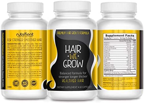 Hair We Grow Hair Growth Vitamins With Biotin Folic Acid More Prevent Hair Loss And Balding And Quickly Regrow New Longer Fuller And Healthy Hair For All Hair